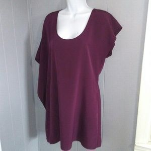 CENTRAL PARK WEST Burgundy Dress Size Small